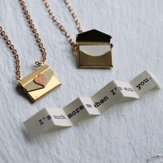 Personalised Envelope Locket, Letter Necklace, Envelope Pendant, Envelope Necklace, Letter Necklace, Customized Locket, ENVELOPE LOCKET