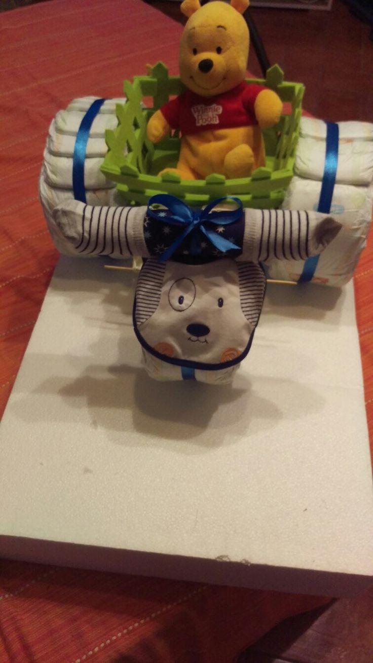 Torta pannolini triciclo