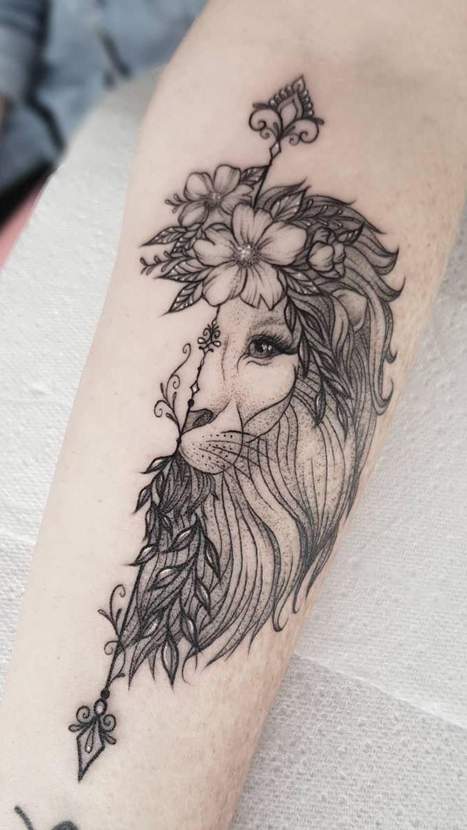 50 Eye Catching Lion Tattoos That Ll Make You Want To Get Inked In 2020 Girl Leg Tattoos Leg Tattoos Tattoos