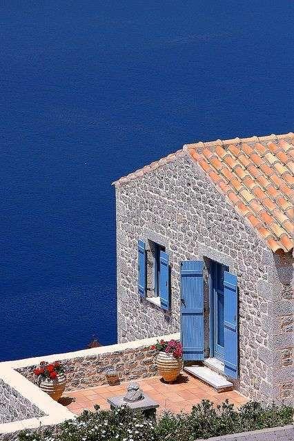 Colori estivi imposte delle finestre - Casa al mare