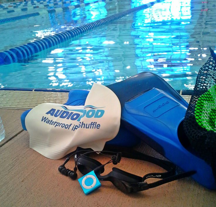 Waterproof iPod shuffle by AudioFlood - your swim workouts will never be the same! Get yours at www.audioflood.com
