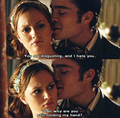 It's funny to see this and then think about how they get married. She acted like he disgusted her.