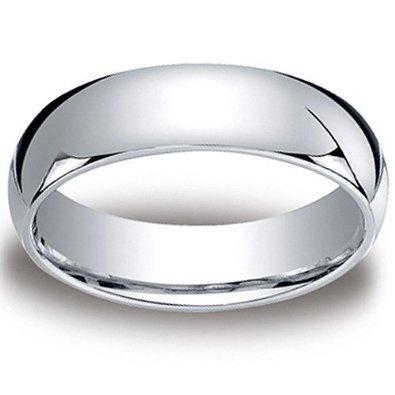 7MM Cobalt Chrome COMFORT FIT Plain High Polish Polished Finish Wedding Ring Band for Men (Sizes 8 to 12): Jewelry: Amazon.com