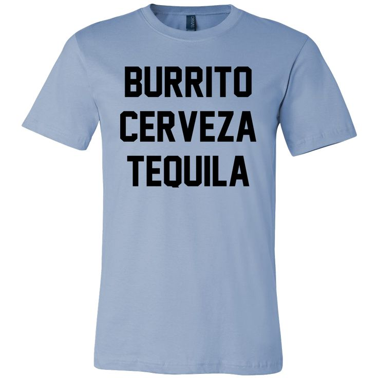 Burrito Cerveza Tequilla Unisex short sleeve t-shirt | Funny Cinco De Mayo Mexico Holiday T-Shirts