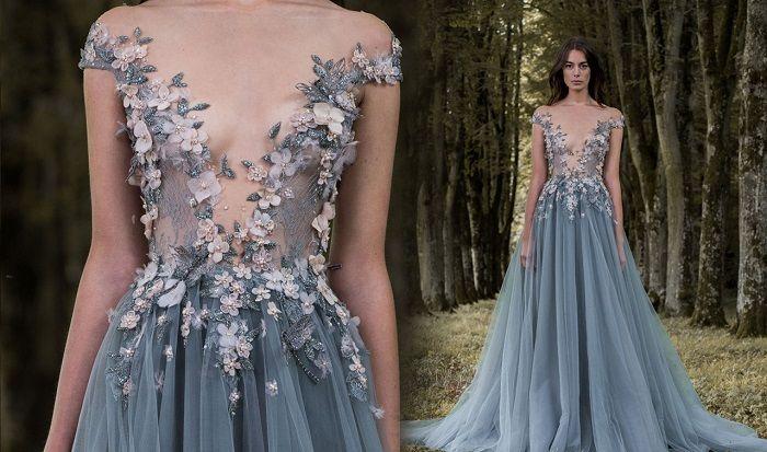 красивые платья с бисером