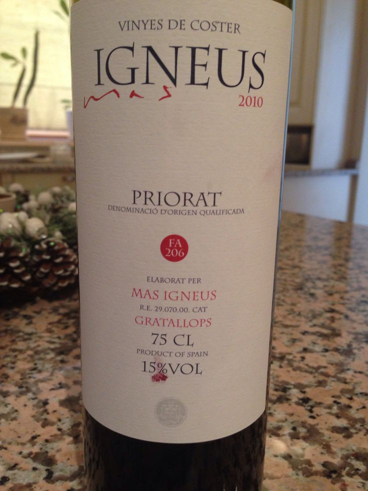Wine from Priorat Spain
