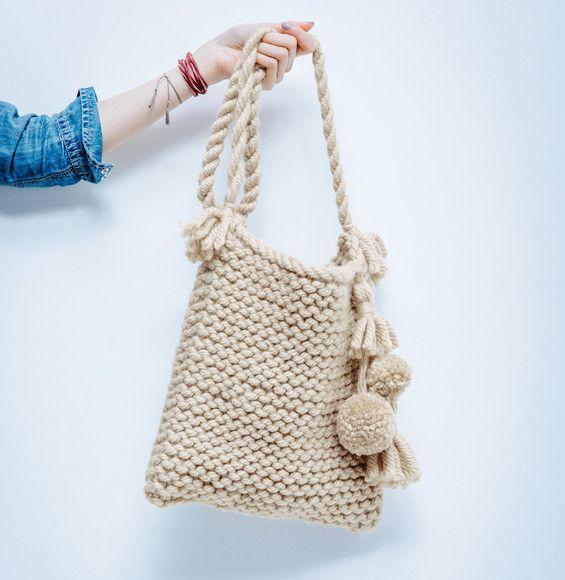 Les 25 meilleures id es concernant sac tricot sur pinterest sacs tricot s sacs tricoter et - Tuto sac tricot en tissu ...