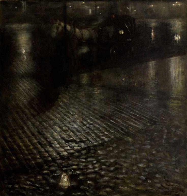 Józef Pankiewicz, Dorożka w deszczu