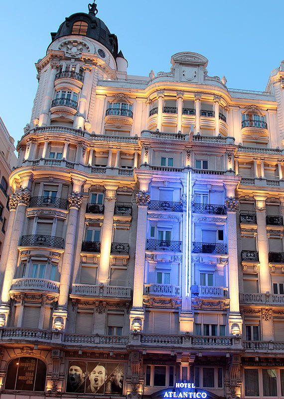 Fachada Prinl Atlantico Hotel Madrid Spain