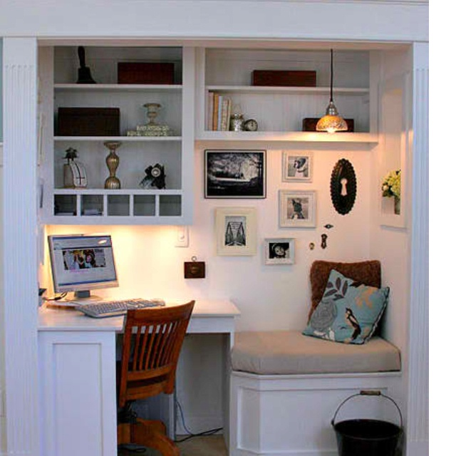 closet made into office living room ideas pinterest