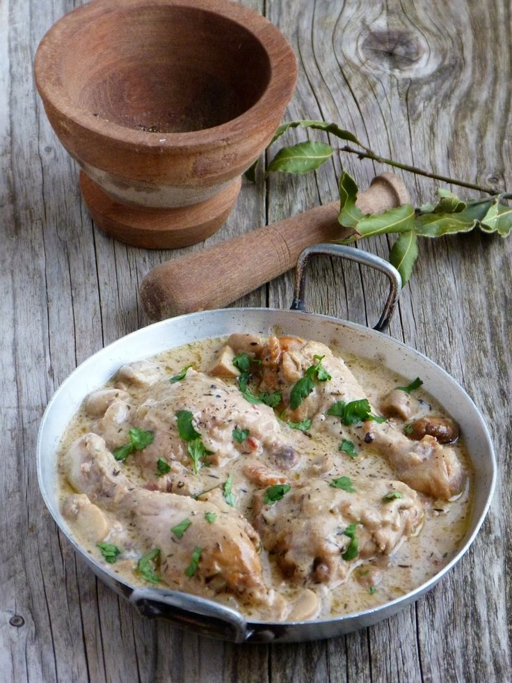 Poulet au Riesling   cuisine alsacienne