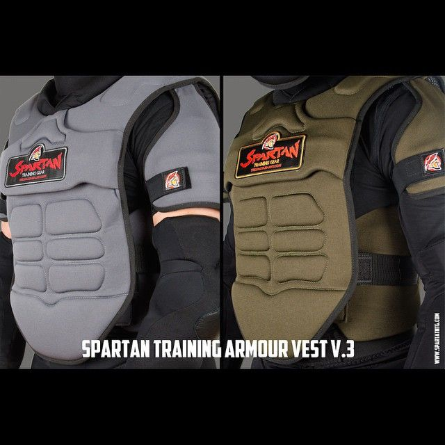 Today we are proud to officially unveil the Spartan Training Armour Vest V.3  The Spartan Vest is the centerpiece of the Spartan Training Armour. Our goal when developing this new model was to refine functionality, optimize mobility and improve durability.  It's strategically inserted plastic trauma plates, interior abdominal brace, reinforced sternum shield and layers of high density foam offer complete protection for the front and back of the torso including the abdominal region, solar…