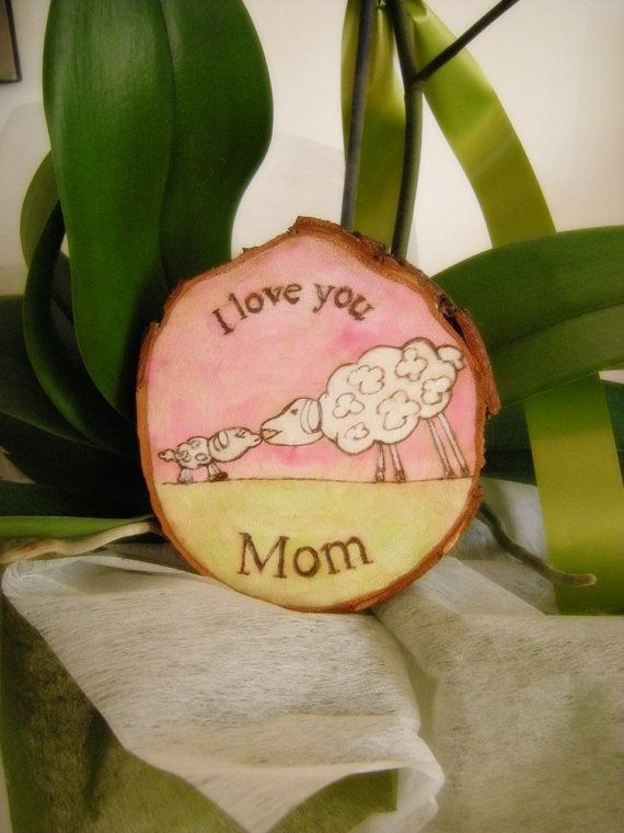 Painting on wood as a Gift for your mother di LaDolceAria su Etsy
