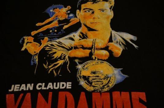 Vintage jean claude van damme t shirt bloodsport m for Domon jean claude