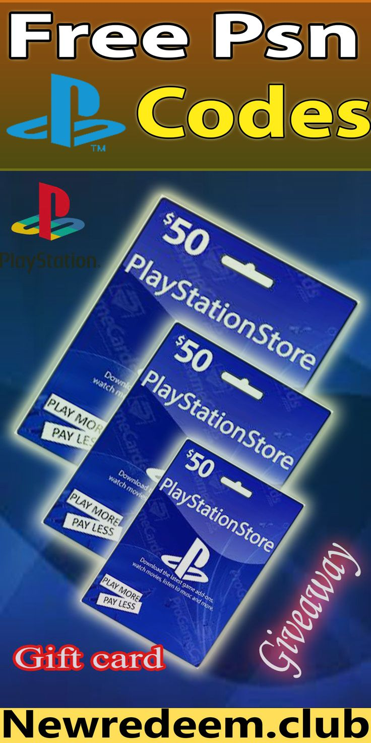 Get free psn code in 2020 free gift cards gift card