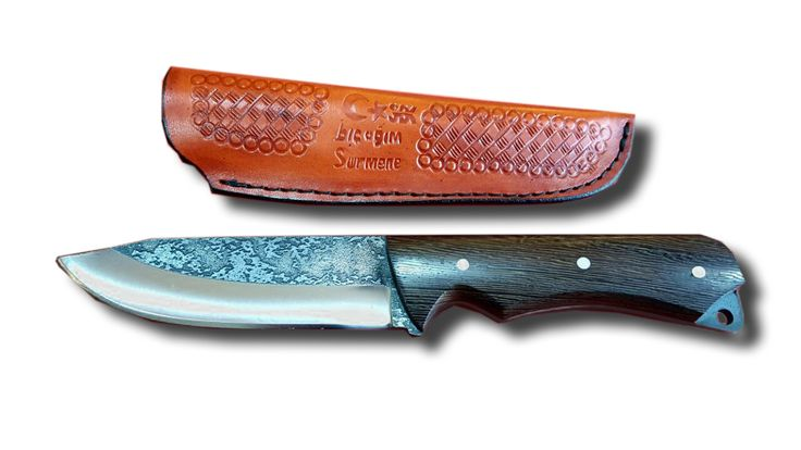 Surmene Knife With Wenge Handle is a beautifully detailed handmade hunting knife by our artisan. Handle is made of wenge tree.