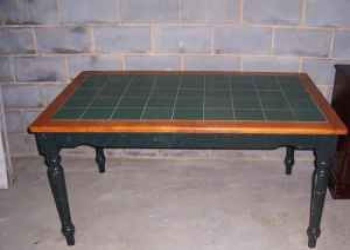 Tile Tables Wood Green Tile Kitchen Table 150
