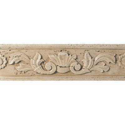 """Daltile Fashion Accents 13"""" x 4"""" Romanesque Decorative Listello in Positano Travertine"""