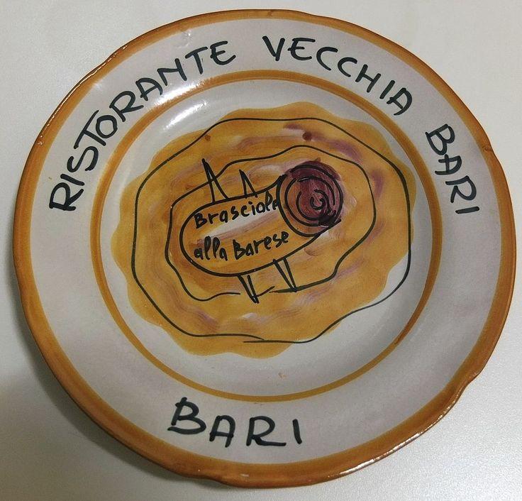 Piatto del buon ricordo  Vecchia Bari - Brasciole alla Barese  - Bari