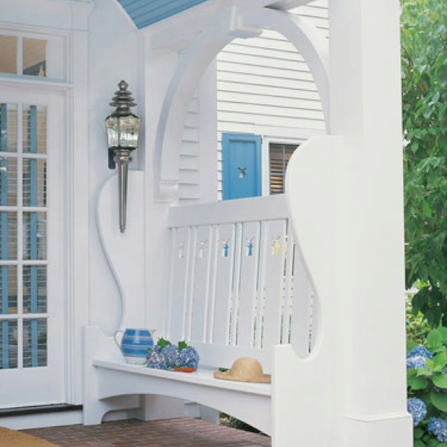 Love this outdoor entrance idea