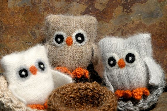 I ❤️ these. They are made of recycled sweaters.