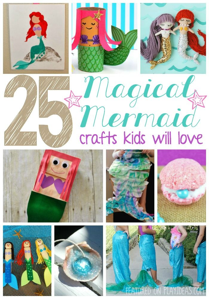 25 Magical Mermaid Crafts Kids Will Love