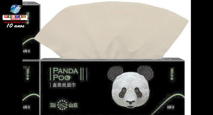 Para produzir os lenços de papel, a empresa na China utiliza fibras de bambu contidas nos excrementos dos pandas. O produto se tornou uma sensação no país.
