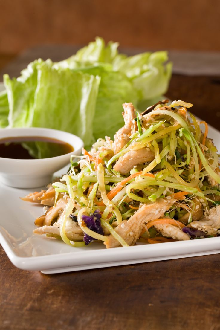 Crisp and fresh Asian lettuce wraps are easily assembled and beautifully presented.