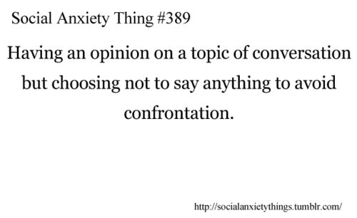social anxiety thing #389 --- had this happen many times in a meeting this morning. instead, I sat and fidgeted.