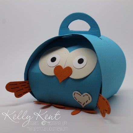Hootastic Birthday: Giggle & Hoot the Owl Curvy Keepsake Box. Kelly Kent - mypapercraftjourney.com.