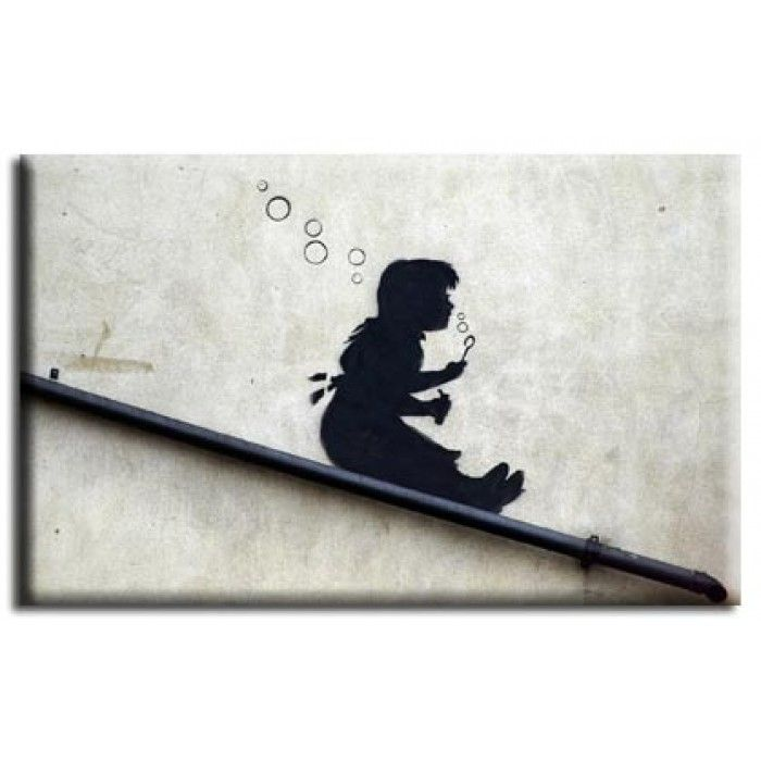 The Banksy Shop - Banksy Canvas Print - Bubble Girl, £29.95 (http://www.thebanksyshop.co.uk/banksy-canvas-print-bubble-girl/)