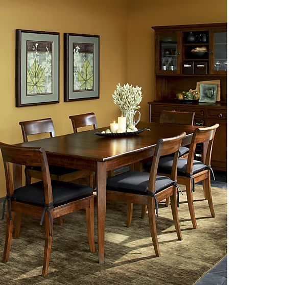 Cabria Dark Extension Dining Table Crate And Barrel