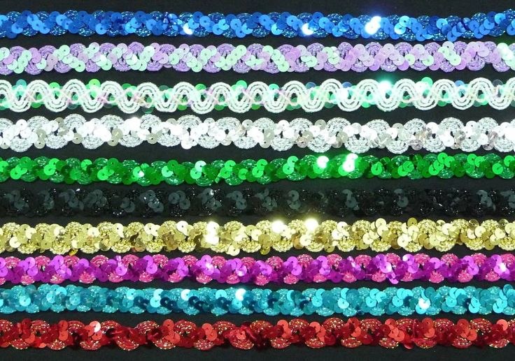 Sequin Braid 1.5cm / 15mm wide Metallic *10 Colours* Sold by the metre UK SELLER