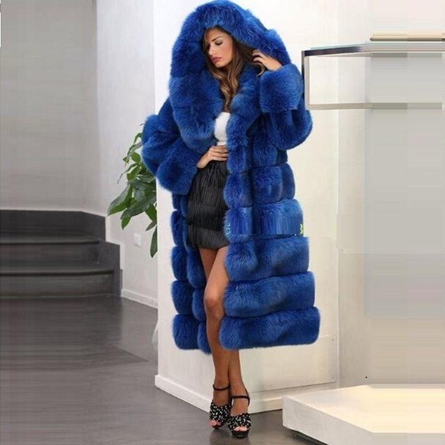 2016 Новый Искусственный Мех Пальто Женщин Х-длинные Свободные Мода Европейский теплый Сгущает Мех Пальто Плюс Размер Зимнее Пальто Женщин Топ качество