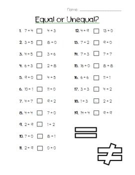 17 Best images about Missing addend on Pinterest | Math sheets ...