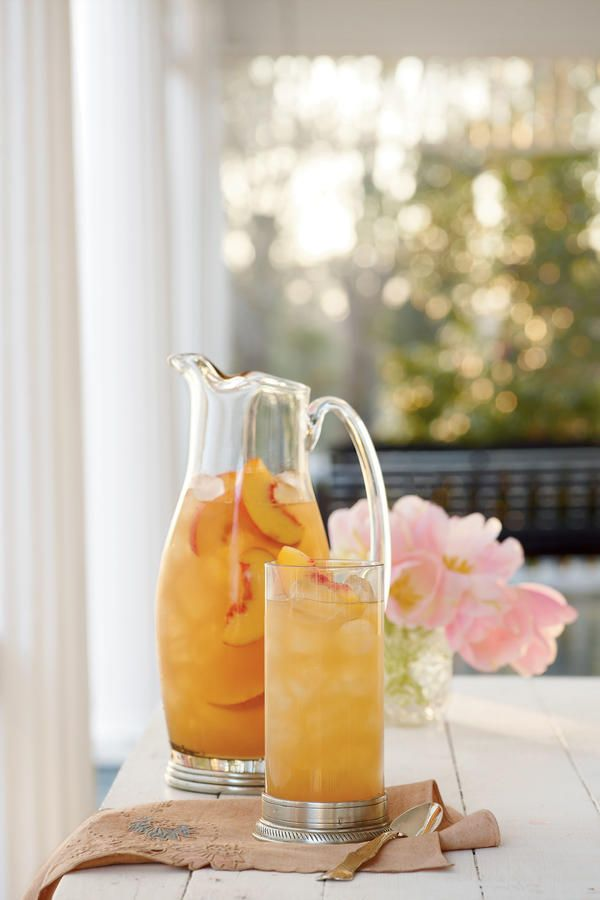 Governor's Mansion Summer Peach Tea Punch - Fresh Peach Recipes - Southernliving. This refreshing summer drink is perfect for a hot Southern day. Garnish with fresh peach slices for a pretty finish. Recipe: Governor's Mansion Summer Peach Tea Punch