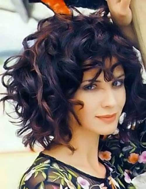 Curly Thick Short Hairstyle