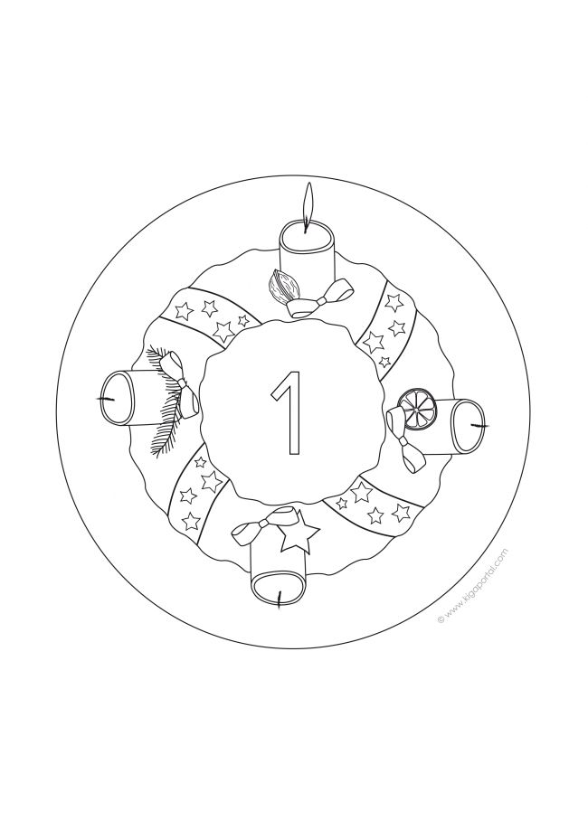 1. Advent-Mandala