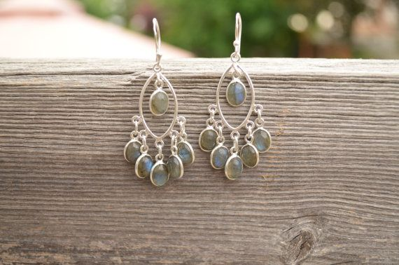Genuine Newfoundland LABRADORITE Sterling Silver Earings on Etsy, $60.00 CAD