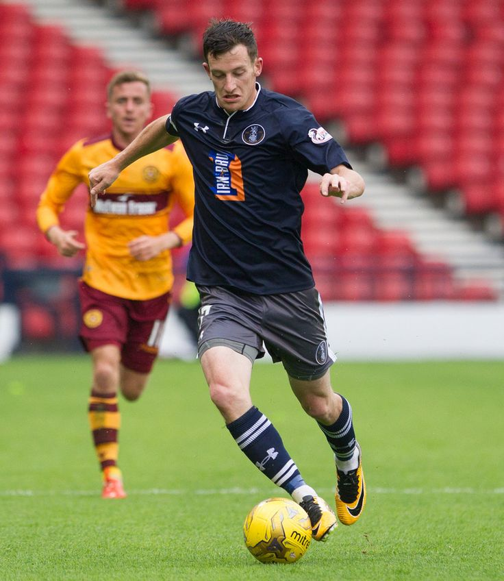 Queen's Park's David Galt in action during the Betfred Cup game between Queen's Park and Motherwell.