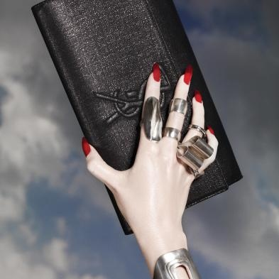 monogram leather clutch - YSL? on Pinterest | Saint Laurent, Yves Saint Laurent and Clutches
