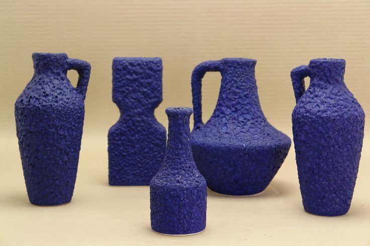 Silberdistel Keramik fat lava ultramine blue