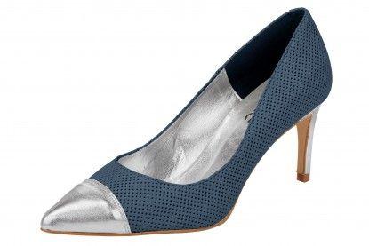 Pantofi de damă cu toc HEINE - denim albastru deschis