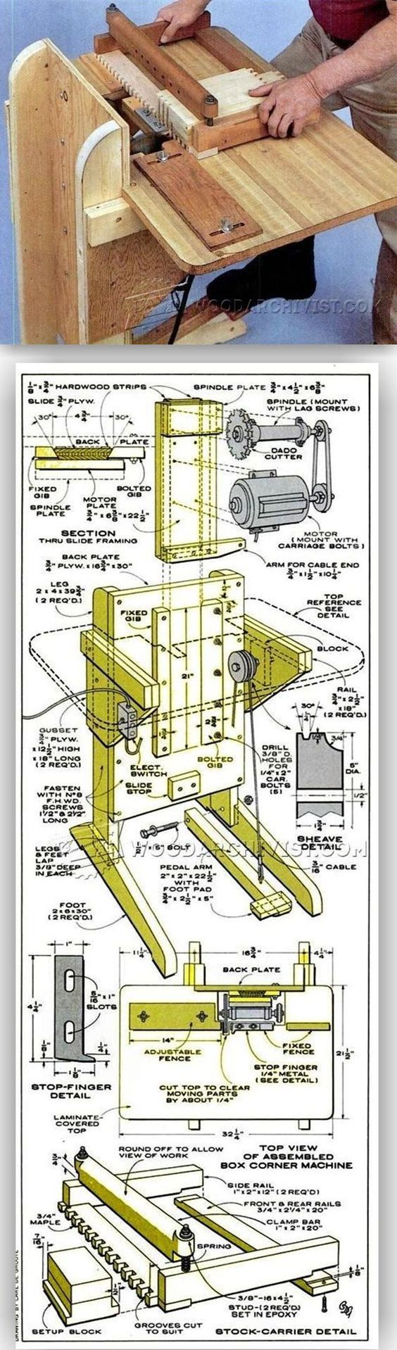 DIY Finger Joint Machine - Joinery Tips, Jigs and Techniques | WoodArchivist.com