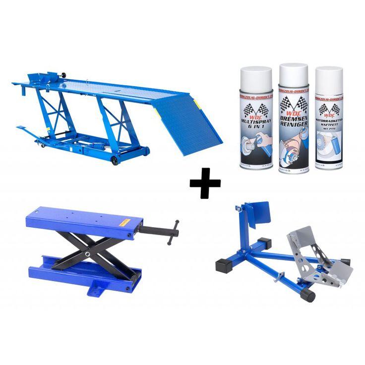 motorradhebeb hne xxl blau 450kg radklemme blau. Black Bedroom Furniture Sets. Home Design Ideas