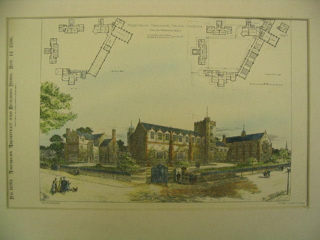 Presbyterian Theological College, Cambridge, MA, 1896, W. Howard Seth Smith and Arthur R. O. Fenning