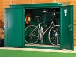 High security bike shed for up to 3 bikes - insurance approved