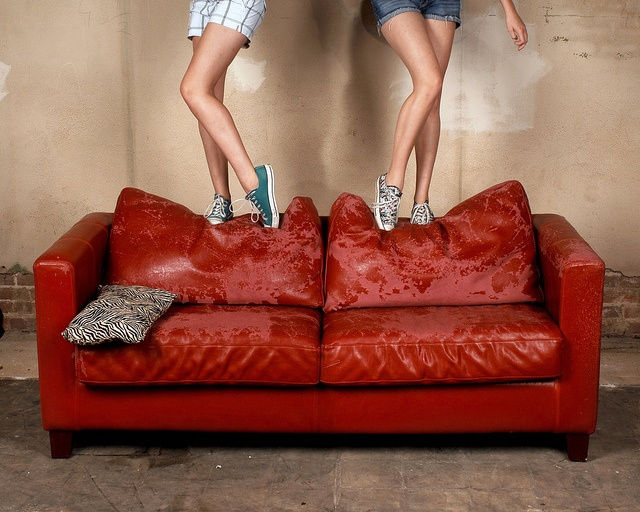 Bench Monday: Red Sofa Edition by Studio d'Xavier