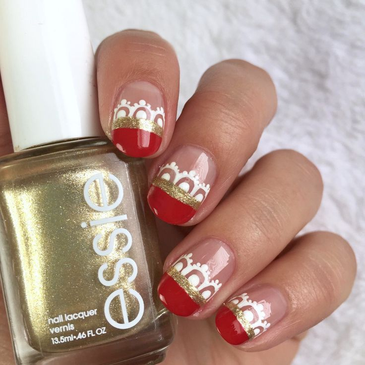 The 692 best Holiday Nail Art & Nail Designs images on Pinterest ...