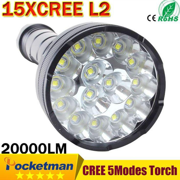 Cree Powerful LED Flashlight 20000 Lumen Lanterna led linternas Torch 15 x CREE XM-L2 LED Waterproof Super Bright LED Flashlight #Affiliate